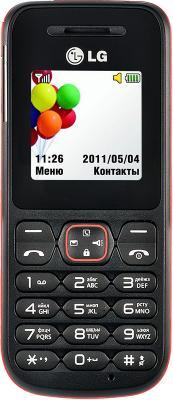 Мобильный телефон LG A100 Red - вид спереди