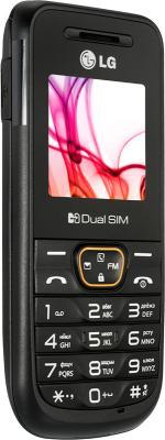 Мобильный телефон LG A190 Black - вид сбоку