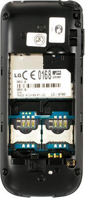 Мобильный телефон LG A190 Black - с отрытой крышкой