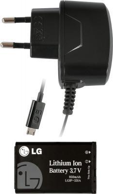 Мобильный телефон LG A190 Black - аккумулятор, зарядное устройство