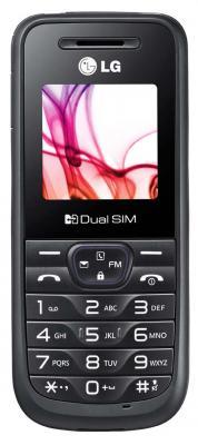 Мобильный телефон LG A190 Black - вид сспереди