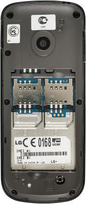 Мобильный телефон LG A230 Gray - вид сзади