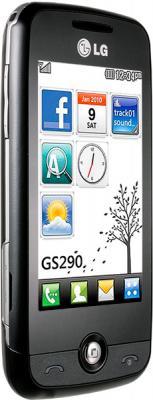 Мобильный телефон LG GS290 Black - вид сбоку