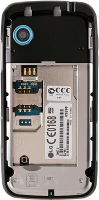 Мобильный телефон LG GS290 Black - вид сзади