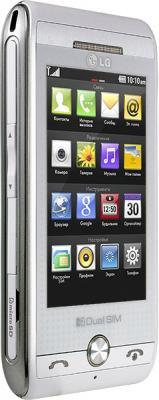 Мобильный телефон LG GX500 White - вид сбоку