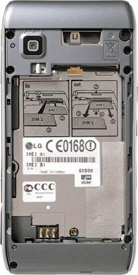 Мобильный телефон LG GX500 Black - вид сзади