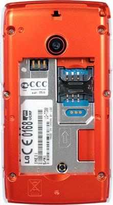 Мобильный телефон LG T300 White - вид сзади