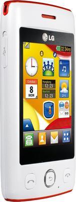 Мобильный телефон LG T300 White - вид сбоку
