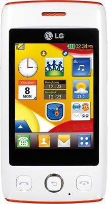 Мобильный телефон LG T300 White - вид спереди