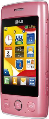 Мобильный телефон LG T300 Pink - вид сбоку