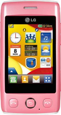 Мобильный телефон LG T300 Pink - вид спереди