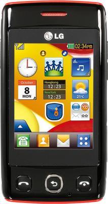 Мобильный телефон LG T300 Black - вид спереди