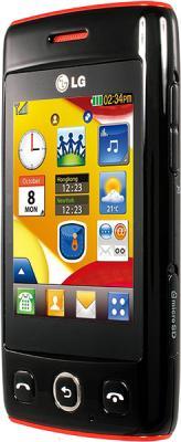 Мобильный телефон LG T300 Black - вид сбоку