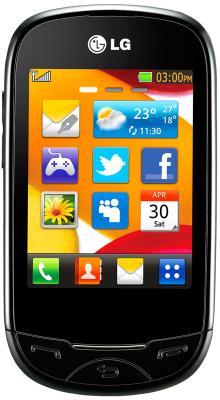 Мобильный телефон LG T500 Black - общий вид