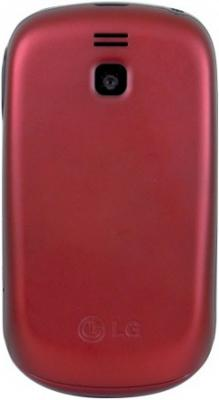 Мобильный телефон LG T510 Red - вид сзади