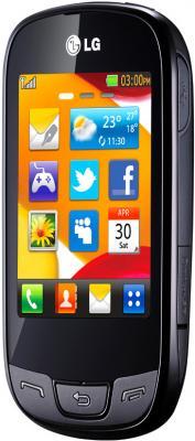 Мобильный телефон LG T510 Black - общий вид