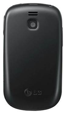 Мобильный телефон LG T510 Black - вид сзади