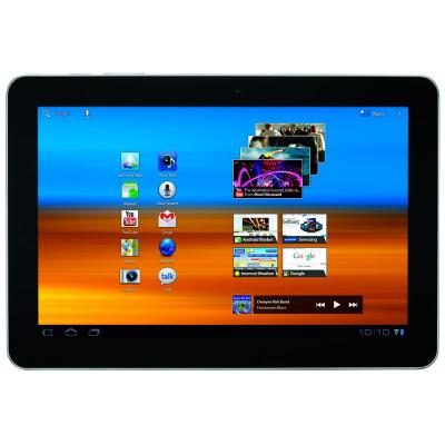 Планшет Samsung Galaxy Tab 10.1 16GB Soft Black (GT-P7510) - спереди