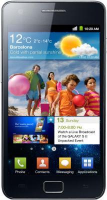Смартфон Samsung I9100 Galaxy S II Black (GT-I9100 LKASER) - вид спереди