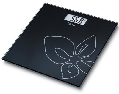 Напольные весы электронные Beurer GS 27 Black Flower - вид сверху