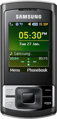Мобильный телефон Samsung C3050 Black - вид спереди