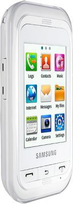 Мобильный телефон Samsung C3300 White (GT-C3300 CWISER) - вид сбоку