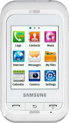 Мобильный телефон Samsung C3300 White (GT-C3300 CWISER) - вид спереди