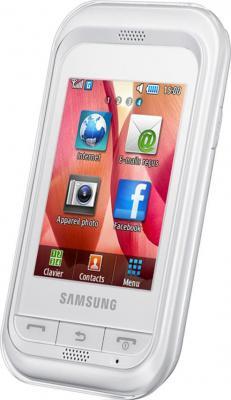 Мобильный телефон Samsung C3300 White (GT-C3300 CWISER) - общий вид