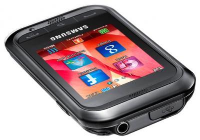 Мобильный телефон Samsung C3300 Black (GT-C3300 DKISER) - общий вид