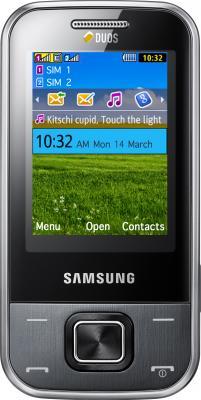 Мобильный телефон Samsung C3752 Gray (GT-C3752 MAASER) - вид спереди