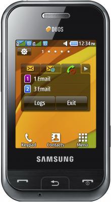 Мобильный телефон Samsung E2652 Champ Black - вид спереди