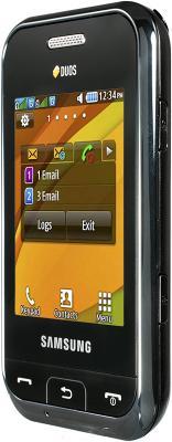 Мобильный телефон Samsung E2652 Champ Black - вид сбоку