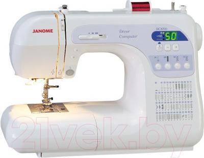 Швейная машина Janome Decor Computer 50 - общий вид с освещением