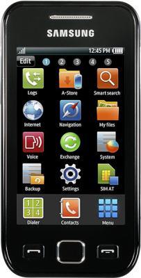 Смартфон Samsung S5250 Wave 525 Black (GT-S5250 HKASER) - вид спереди