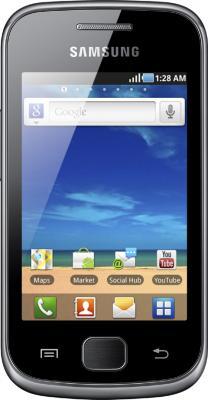 Смартфон Samsung S5660 Galaxy Gio Dark Silver (GT-S5660 DSASER) - вид спереди
