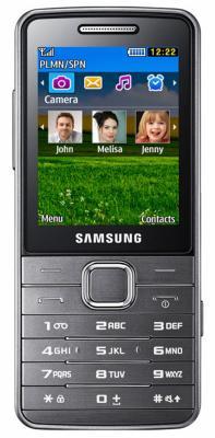 Мобильный телефон Samsung S5610 Silver (GT-S5610 MSASER) - вид спереди
