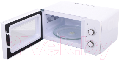 Микроволновая печь Daewoo KOR-5A17W - с открытой дверцей