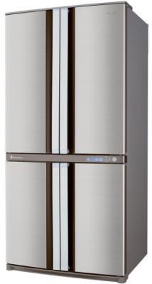Холодильник с морозильником Sharp SJ-F78PESL - вид сбоку