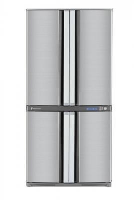 Холодильник с морозильником Sharp SJ-F78PESL - вид спереди