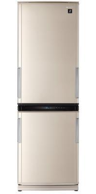 Холодильник с морозильником Sharp SJ-WM322TSL - Вид спереди