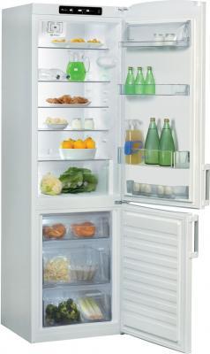 Холодильник с морозильником Whirlpool WBE 3623 NFW - Вид спереди