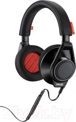 Наушники-гарнитура Plantronics Rig Flex (черный) - общий вид с встроенным микрофоном