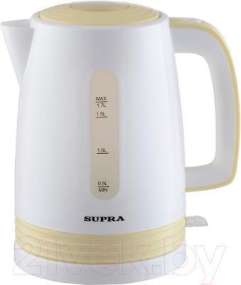 Электрочайник Supra KES-1723 (желто-белый) - общий вид