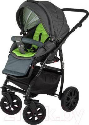 Детская универсальная коляска Adamex Active (2 в 1) (красный-графит) - прогулочная