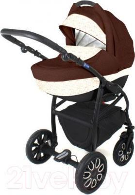 Детская универсальная коляска Adamex Active (2 в 1) (коричнево-кремовый) - общий вид