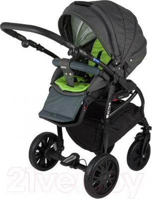Детская универсальная коляска Adamex Active (2 в 1) (коричнево-кремовый) - прогулочная