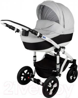 Детская универсальная коляска Adamex Galactic (белый) - общий вид