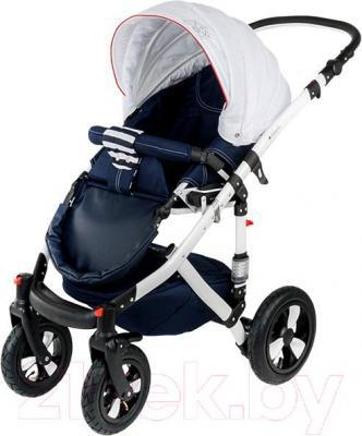 Детская универсальная коляска Adamex Galactic (белый) - прогулочная