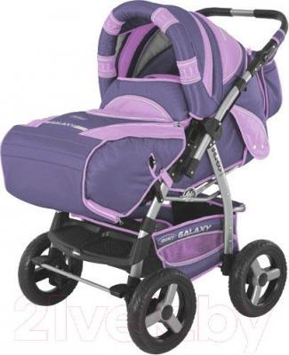 Детская универсальная коляска Adamex Galaxy (фиолетовый) - общий вид