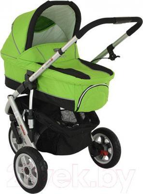 Детская универсальная коляска Adamex Quatro 3 (2 в 1) (голубой) - люлька